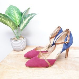 ANTHROPOLOGIE LEIN.DO LEATHER TWO TONE PUMPS NEW ✨
